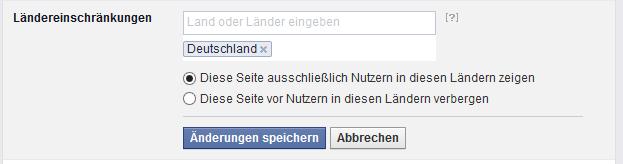 Facebook Ländereinschränkungen richtig benutzen