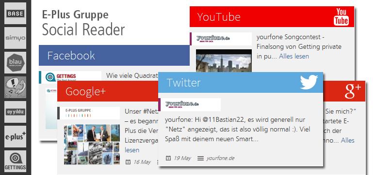 Alle Social-Media-Kanäle der E-Plus Marken