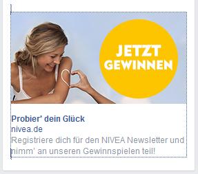 nivea - Facebook Werbeanzeige